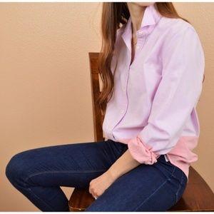 J. CREW Boy Colorblock Oxford Button Shirt Pink